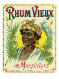 Rhum Vieux Martinique Brand Rum Label Láminas por  Lantern Press