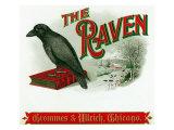 The Raven Brand Cigar Box Label Prints by  Lantern Press