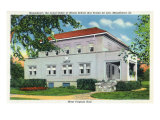 Mooseheart, Illinois, Exterior View of the West Virginia Hall Building Posters