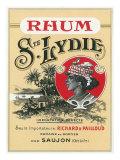 Rhum Ste. Lydie Brand Rum Label Art