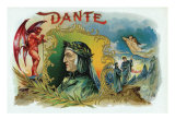 Dante Brand Cigar Inner Box Label Art by  Lantern Press