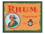 Rhum Superieur Brand Rum Label Posters