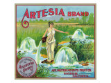 Riverside, California, Artesia Brand Citrus Label Prints by  Lantern Press