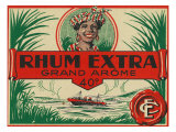 Rhum Extra Grand Arome Brand Rum Label Posters