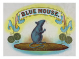 Blue Mouse Brand Cigar Box Label Prints