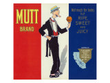 Porterville, California, Mutt Brand Citrus Label Prints