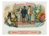 Smokers Corner Brand Cigar Box Label Posters