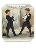 Lantern Press - Vaudeville Sports Brand Cigar Box Label - Reprodüksiyon