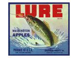 Oroville, Washington, Lure Brand Apple Label Poster