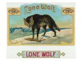 Lone Wolf Brand Cigar Box Label Prints