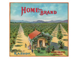 Highgrove, California, Home Brand Citrus Label Poster by  Lantern Press