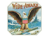 Wide-Awake Brand Cigar Outer Box Label Poster