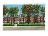 Davenport, Iowa, View of St. Ambrose College Prints by  Lantern Press