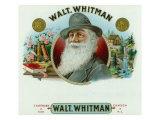 Walt Whitman Brand Cigar Inner Box Label Prints by  Lantern Press
