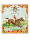 Jockey Brand Cigar Box Label, Horse Racing Prints by  Lantern Press