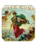 Free Cuba Brand Cigar Box Label Poster