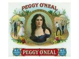 Peggy O'Neal Brand Cigar Box Label Prints