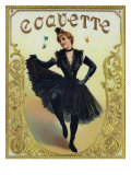 Coquette Brand Cigar Box Label Prints