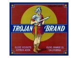 Olive, California, Trojan Brand Citrus Label Art by  Lantern Press