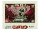 King Coal Brand Cigar Box Label Prints