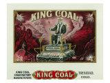 King Coal Brand Cigar Box Label Prints by  Lantern Press