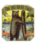 The Big Baer Cigar, Bear-Facts Brand Cigar Outer Box Label, Misspelling Posters