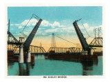 Peoria, Illinois, View of the McKinley Bridge Prints by  Lantern Press