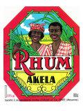 Thum Akela Marque Deposee Rum Label Poster