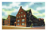 Chicago, Illinois, Exterior View of Hull House Poster by  Lantern Press