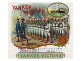 Yankee Victors Brand Cigar Box Label Poster