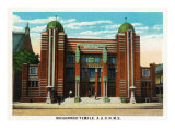 Peoria, Illinois, Exterior View of the AAONMS Mohammed Temple Prints by  Lantern Press
