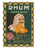 Rhum Jamaique Pedro Benito Rum Label Posters by  Lantern Press