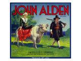 Colton, California, John Alden Brand Citrus Label Prints by  Lantern Press