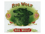 Big Wolf Brand Cigar Inner Box Label Posters by  Lantern Press