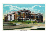 Peoria, Illinois, Exterior View of the New High School Building Prints by  Lantern Press