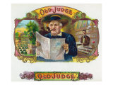 Old Judge Brand Cigar Box Label Prints by  Lantern Press