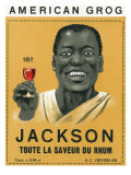 American Grog, Jackson Brand Rum Label Print by  Lantern Press