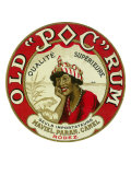 Old Poc Rum Qualite Superieure Brand Rum Label Art by  Lantern Press