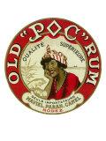 Old Poc Rum Qualite Superieure Brand Rum Label Art