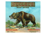 North Ontario, California, Nucleus Bear Brand Citrus Label Print by  Lantern Press