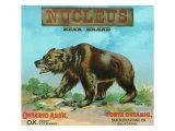 North Ontario, California, Nucleus Bear Brand Citrus Label Prints by  Lantern Press