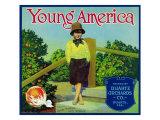 Duarte, California, Young America Brand Citrus Label Art by  Lantern Press