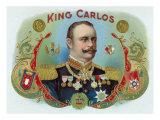 King Carlos Brand Cigar Inner Box Label, King Juan Carlos I of Spain Print by  Lantern Press