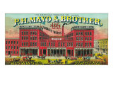 Richmond, Virginia, P.H. Mayo and Brother US Navy Brand Tobacco Label Print