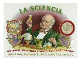 La Sciencia Brand Cigar Box Label Print