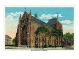 Peoria, Illinois, Exterior View of the Scottish Rite Cathedral Art