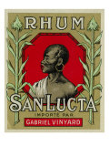 Rhum San Lucta Brand Rum Label Posters