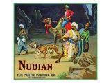 Los Angeles, California, Nubian Brand Citrus Label Posters by  Lantern Press