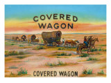 Covered Wagon Brand Cigar Box Label Prints