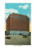 Peoria, Illinois, Exterior View of the Hotel Pere Marquette Posters by  Lantern Press
